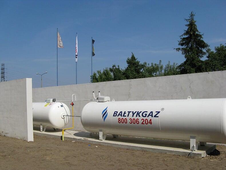 Bateria zbiorników LPG 2 x 6700l