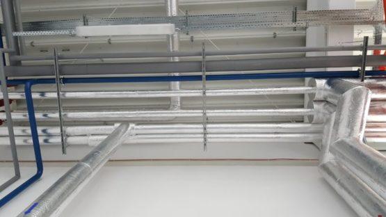 Instalacje c.o., c.t., hydrantowa, sprezonego powietrza i zimnej wody, hala DS Smith