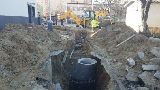 Wykopy przy kanalizacji deszczowej